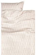 Patterned duvet cover set - Light beige - Home All | H&M CN 2