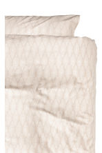 Patterned duvet cover set - Light beige -  | H&M IE 2
