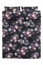 Floral-print duvet cover set - Purple/Flowers - Home All | H&M IE 2