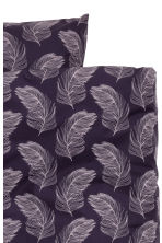 Patterned duvet cover set - Purple - Home All | H&M IE 2