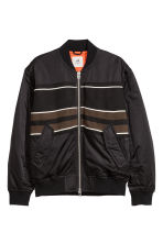 Jacquard-pattern bomber jacket - Black - Men | H&M GB 2