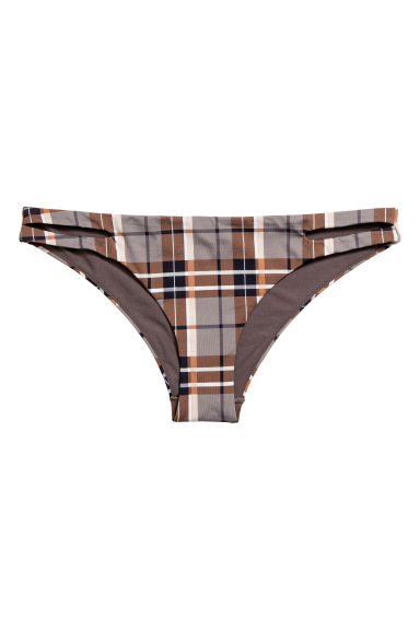 Bikini bottoms - Mole/Checked - Ladies | H&M