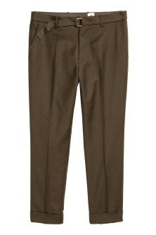 Wool-blend Suit Pants