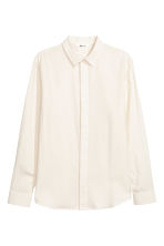 Brushed cotton shirt - Natural white - Men | H&M IE 2
