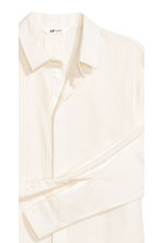 Brushed cotton shirt - Natural white - Men | H&M IE 4