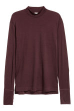 Long-sleeved wool top - Burgundy - Men | H&M 2