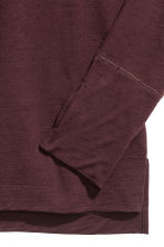 Long-sleeved wool top - Burgundy - Men | H&M 3