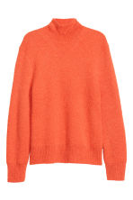 Ribbed polo-neck jumper - Orange - Men | H&M 2