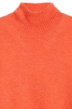 Ribbed polo-neck jumper - Orange - Men | H&M 3