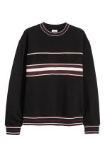 Jacquard-patterned sweatshirt - Black - Men | H&M GB 2