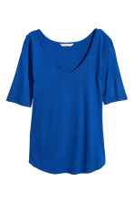V-neck top - Bright blue - Ladies | H&M CN 2