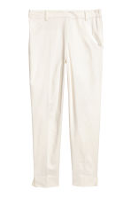 Cigarette trousers - Natural white - Ladies | H&M CN 2