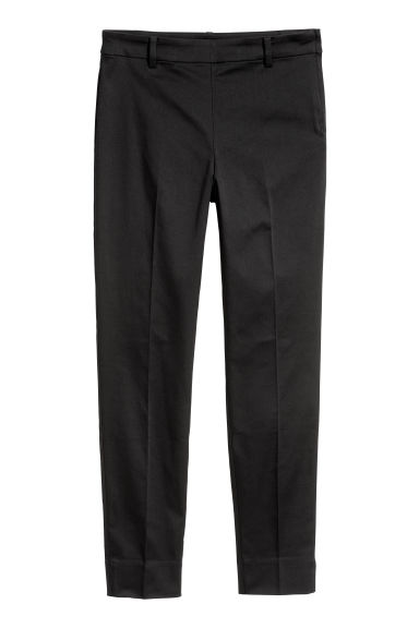 Cigarette trousers - Black - Ladies | H&M IE