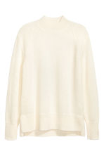 Mohair-blend jumper - Natural white - Men | H&M 1