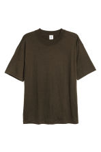Wool T-shirt - Dark khaki green - Men | H&M 2