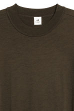 Wool T-shirt - Dark khaki green - Men | H&M 3