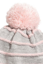Hat and Mittens - Light grey/Light pink -  | H&M CA 2