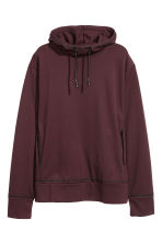 Lyocell hooded top - Burgundy - Men | H&M CN 2