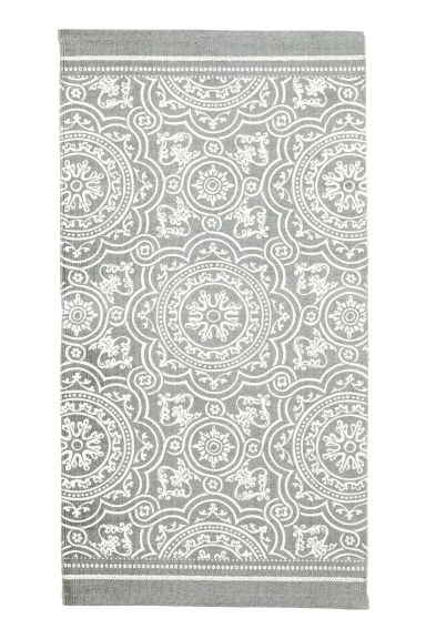 Patterned cotton rug - Grey - Home All | H&M CA 1