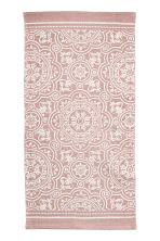 Patterned cotton rug - Dusky pink - Home All | H&M CA 1