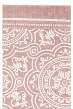 Patterned cotton rug - Dusky pink - Home All | H&M CA 2