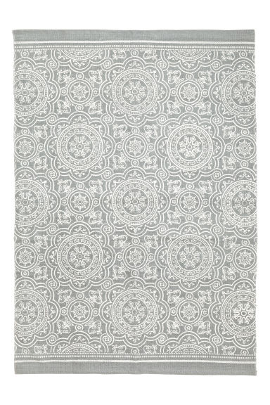 Patterned cotton rug - Grey - Home All | H&M CN 1