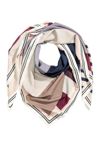 Woven scarf - Heather purple/Patterned - Ladies | H&M CN 1