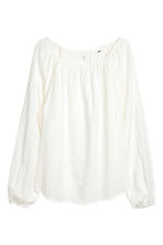 Cotton blouse - White - Ladies | H&M IE 2