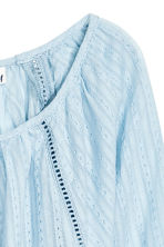 Cotton blouse - Light blue - Ladies | H&M CA 3