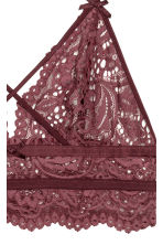 Lace bralette - Burgundy - Ladies | H&M 3