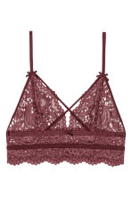 Lace bralette - Burgundy - Ladies | H&M 2