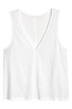 Modal-blend vest top - White - Ladies | H&M CA 2