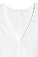 Modal-blend vest top - White - Ladies | H&M CA 3
