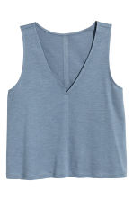 Modal-blend vest top - Blue marl - Ladies | H&M 2