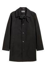 Cotton twill car coat - Black - Men | H&M 2