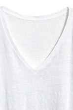 Linen top - White - Ladies | H&M 3