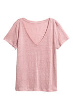 Linen top - Light pink - Ladies | H&M CN 2
