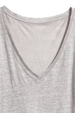 Linen top - Light grey -  | H&M 3