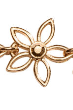 Hairband with metal flowers - Gold/Black -  | H&M 2