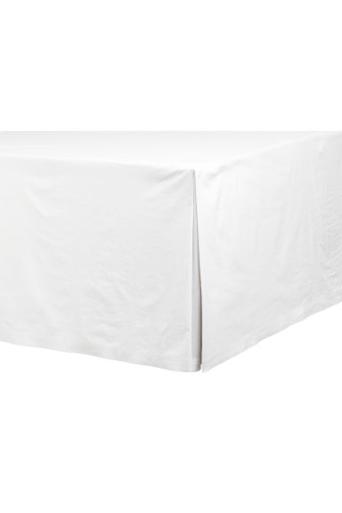 Washed cotton valance - White - Home All | H&M CN