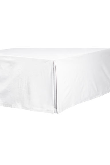 Washed cotton valance - White - Home All | H&M GB