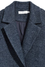 Wool-blend coat - Dark blue - Ladies | H&M 3