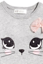 Fine-knit dress - Light grey/Cat -  | H&M 3