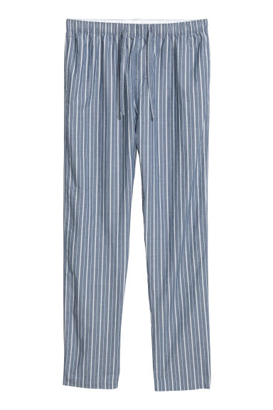 Pyjama bottoms - Blue/White striped - Men | H&M