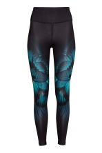 Leggings sportivi - Nero/farfalla - DONNA | H&M IT 2