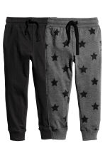 2件入慢跑褲 - Dark grey/Stars -  | H&M 2