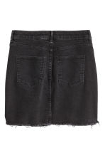 Denim skirt - Black denim - Ladies | H&M CN 2