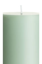 Large pillar candle - Dusky green - Home All | H&M CA 2