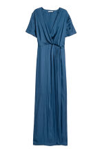 Long satin dress - Dark blue - Ladies | H&M 2