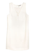 Short dress - Natural white - Ladies | H&M 2